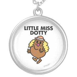 Little Miss Dotty Waving Round Pendant Necklace