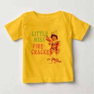 Little Miss Firecracker Vintage Americana Baby T-Shirt