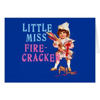 Little Miss Firecracker Vintage Americana Card