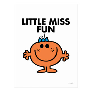 Little Miss Fun | Black Lettering Postcard
