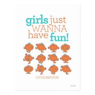 Little Miss Fun | Girls Just Wanna Have Fun Postcard