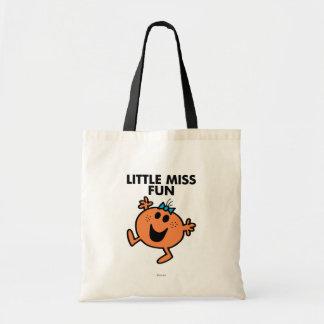 Little Miss Fun Waving Joyously Budget Tote Bag