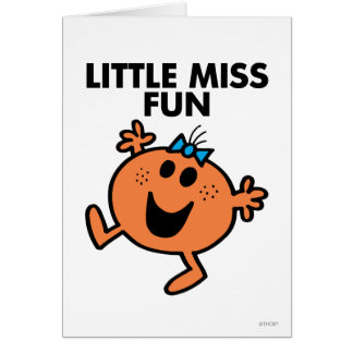 Little Miss Fun Waving Joyously Greeting Card