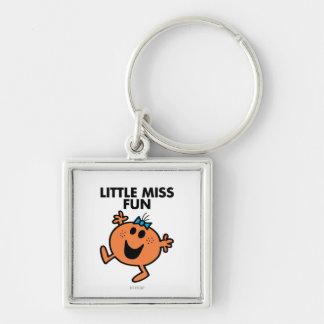 Little Miss Fun Waving Joyously Keychain