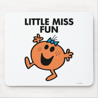 Little Miss Fun Waving Joyously Mouse Pad