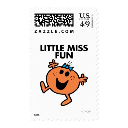 Little Miss Fun Waving Joyously Postage Stamps