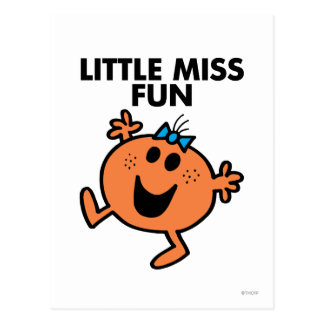 Little Miss Fun Waving Joyously Postcard