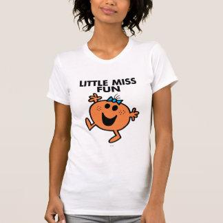 Little Miss Fun Waving Joyously T Shirts