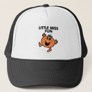 Little Miss Fun Waving Joyously Trucker Hat