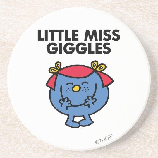 Little Miss Giggles   Black Lettering Drink Coaster