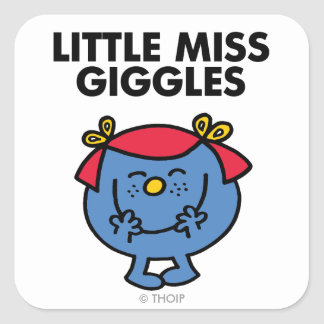 Little Miss Giggles | Black Lettering Square Sticker