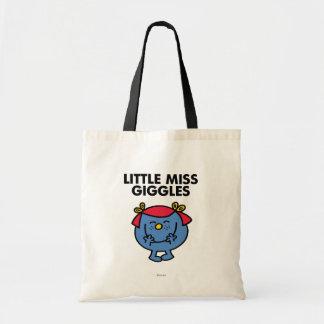 Little Miss Giggles | Black Lettering Tote Bag