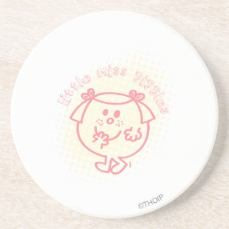 Little Miss Giggles Coral Patch Drink Coasters