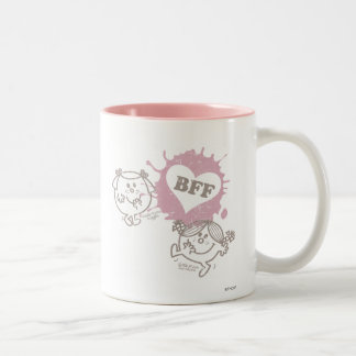 Little Miss Giggles & Little Miss Sunshine | BFFs Two-Tone Coffee Mug