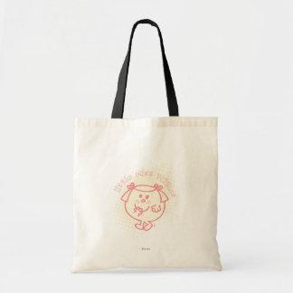 Little Miss Giggles | Pink Lettering Tote Bag