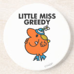 Little Miss Greedy Classic Drink Coaster