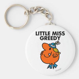 Little Miss Greedy Licking Her Lips Keychain