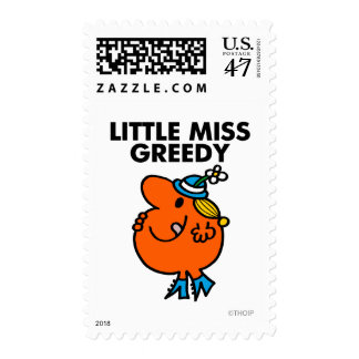 Little Miss Greedy Licking Her Lips Postage