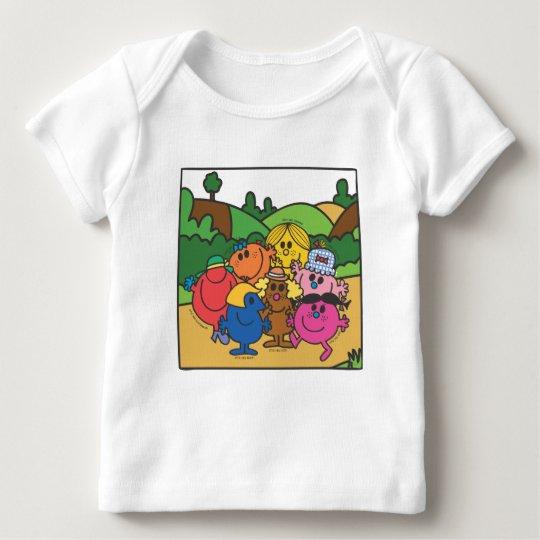 Little Miss Group Of Friends Baby T-Shirt