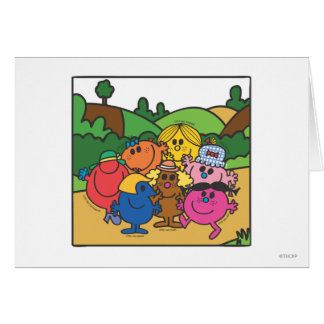 Little Miss Group Of Friends Card