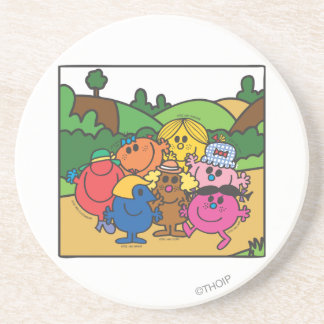 Little Miss Group Of Friends Beverage Coasters
