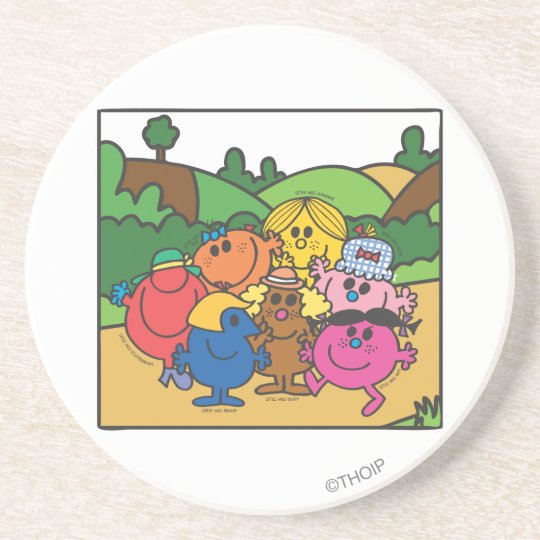 Little Miss Group Of Friends Drink Coaster