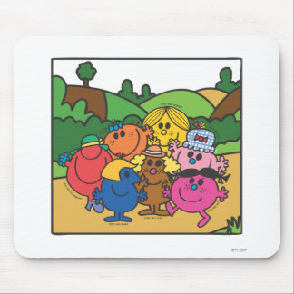 Little Miss Group Of Friends Mouse Pad