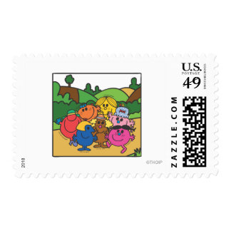 Little Miss Group Of Friends Postage Stamps