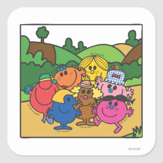 Little Miss Group Of Friends Square Sticker