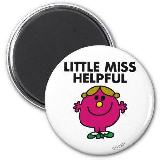 Little Miss Helpful | Black Lettering 2 Inch Round Magnet
