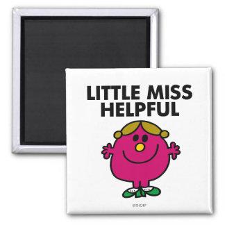 Little Miss Helpful | Black Lettering 2 Inch Square Magnet