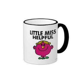 Little Miss Helpful | Black Lettering Ringer Coffee Mug