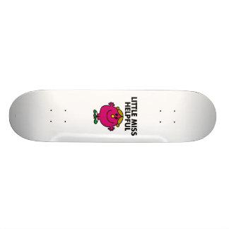 Little Miss Helpful | Black Lettering Custom Skateboard