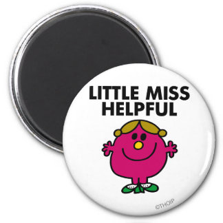 Little Miss Helpful Classic 2 Inch Round Magnet