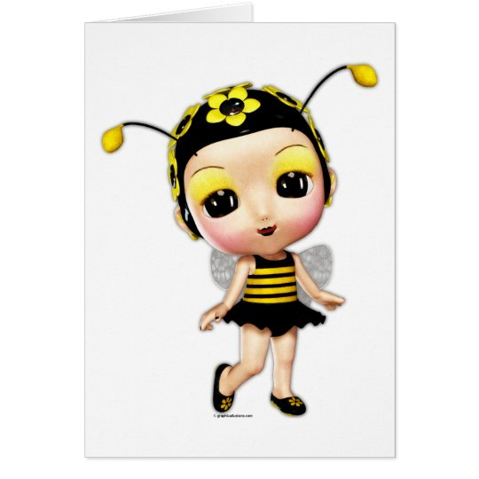 Little Miss Lady Bumblebee Card