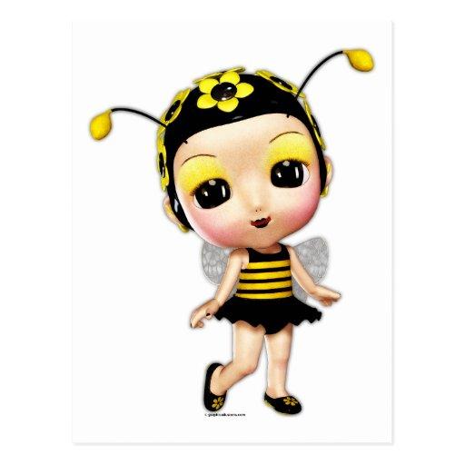 Little Miss Lady Bumblebee Postcard