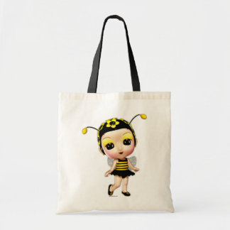 Little Miss Lady Bumblebee Tote Bag