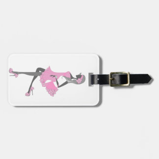 Little Miss Lady Shopper Dressed In Pink Bag Tag