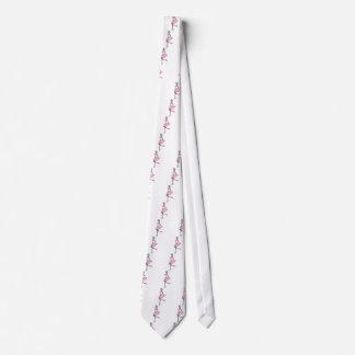 Little Miss Lady Shopper Dressed In Pink Neck Tie