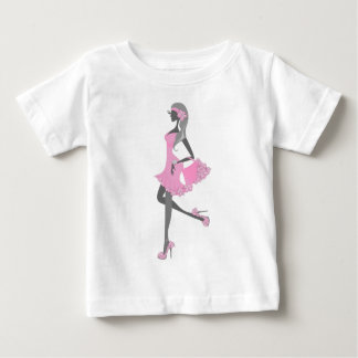 Little Miss Lady Shopper Dressed In Pink Shirt
