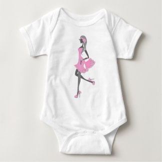 Little Miss Lady Shopper Dressed In Pink Tee Shirt