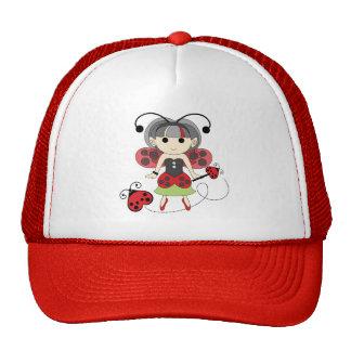Little Miss Ladybug Fairy Princess and Bug Wand Trucker Hat