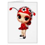 Little Miss Ladybug Greeting Card