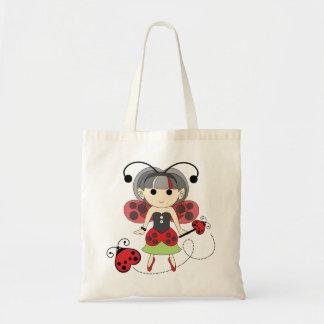Little Miss Ladybug Lady Bug Fairy Cute Tote Bag