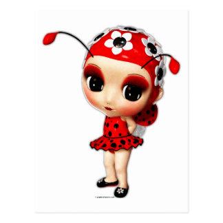 Little Miss Ladybug Postcard
