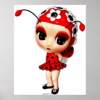 Little Miss Ladybug Posters