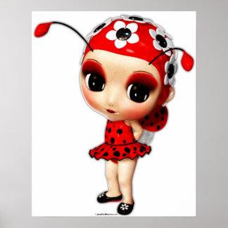 Little Miss Ladybug Poster