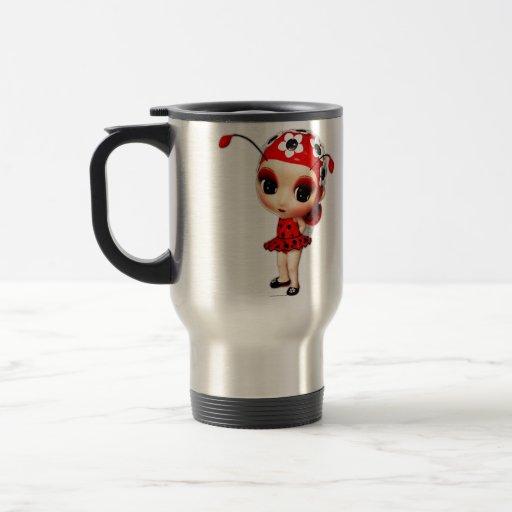 Little Miss Ladybug Stainless Steel Travel Mug