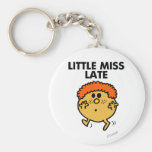 Little Miss Late | Black Lettering Basic Round Button Keychain