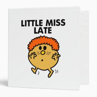 Little Miss Late | Black Lettering Binder